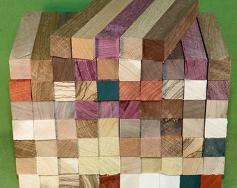 """Pen Turning Blanks, 75 Each  - 11 Differant Woods - 7/8"""" x 7/8"""" x 6""""  -  Shipping Included  - Item #325"""