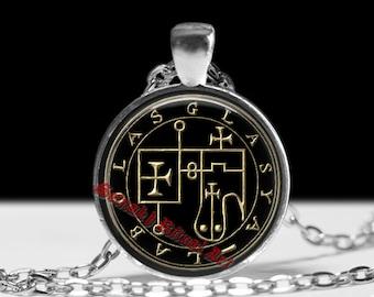25 GLASYA - LABOLAS demon seal pendant, Goetia necklace, Lemegeton, Lesser Key of Solomon, occult, summoning demons ritual amulet #104.23