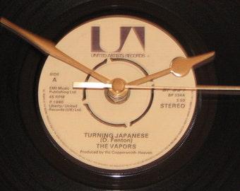 "The Vapors turning japanese  7"" vinyl record clock"