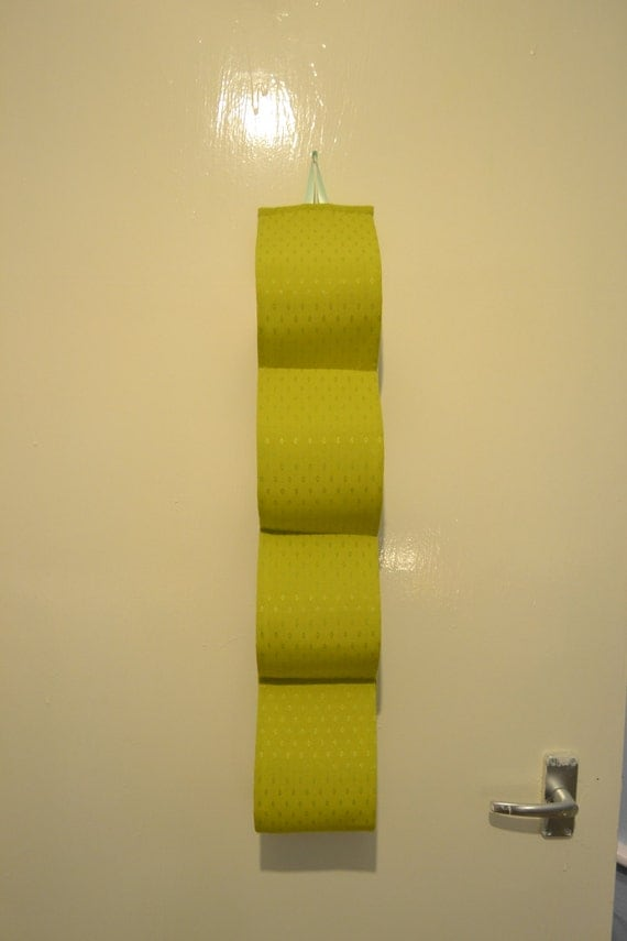 Fabric Decorative Toilet Paper Holder For 4 Rolls At The Wall