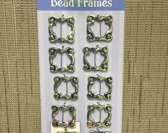 Square Bead Frames-Silver Color