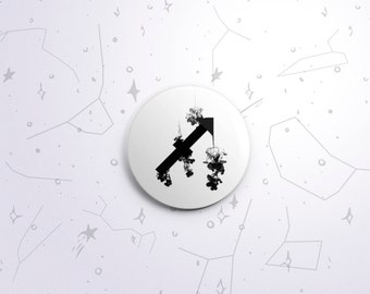 Sagittarius zodiac one-inch pinback button badge - small pin