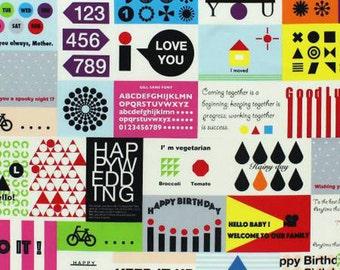 Multi Message Card by Lecien Half Yard