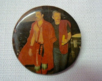 Large Vintage Early 80s Freddie Mercury Backstage - Queen - Pin / Button / Badge