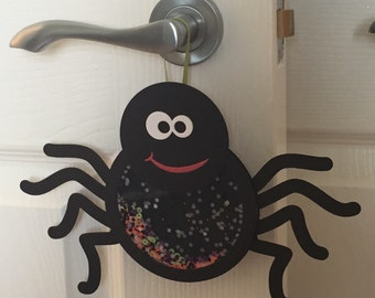 Handmade Halloween Spider hanging decoration