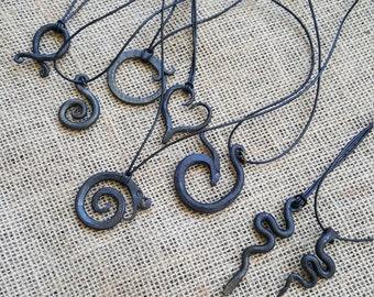 Handmade Iron Pendant