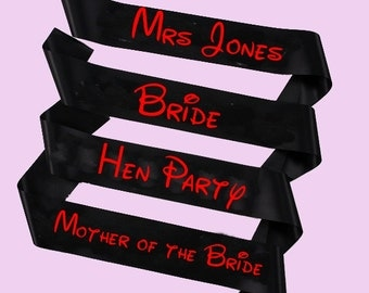 Disney Hen party sash , bride to be sash , Disney bride sash , bridesmaid sash  , Mother sash , groom sash , sash , Party sash ,