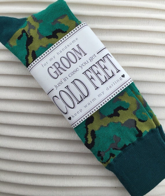Fabulous Grooms Wedding Gift From Bride Green Camouflage Socks ...