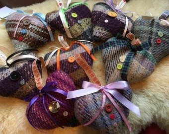 Yorkshire Blankets Lavender Hearts Eco Friendly 80% Wool