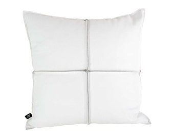 White Leather Cushion