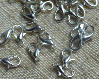 50pcs lot of silver clasps
