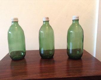 Vintage Sprite Bottle 16 oz. glass with cap