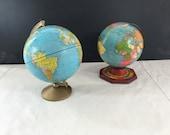 Vintage Metal World Globe - J. Chein - Replogle - Earth - Office Decor - Retro - Display - Collectible - Prop