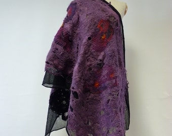 Artsy exceptional long warm shawl. Perfect for Winter.