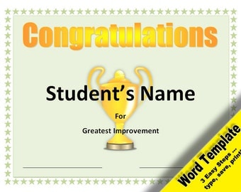 student certificate templates for word - student of the month award editable word template by
