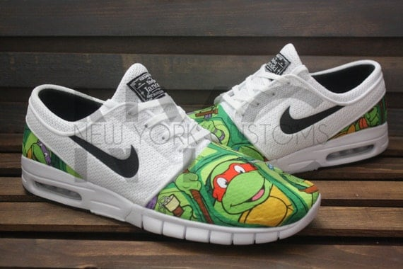 Ninja Max Tmnt Turtles White Nike Sb Stefan Nycustoms Janoski By kXPOZiu