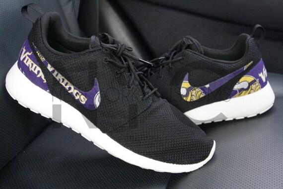 b08c7b714e874 30%OFF Minnesota Vikings Nike Roshe One Run Black Custom Men by NYCustoms