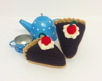 Play Food Crochet Chocolate Pie, Gift, Amigurumi