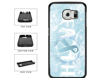 Prostate Cancer Awareness Faith Ribbon - Samsung Galaxy s3 s4 s5 s6 s7 s8 Edge Plus Note 2 3 4 5 7
