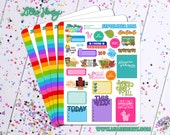 September 2016 New Sticker Weekend Planner Sticker Sampler! Bright, fun, and functional stickers perfect for planning your life!