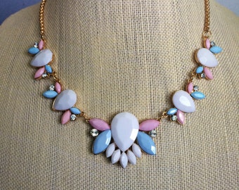 Pastel Vintage Statement Necklace