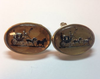 Horse and buggy cuff links