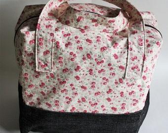 weekender bag, travel bag, women weekender bag, recycled fabric, girls weekender bag, upcycled bag