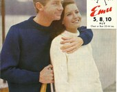 """PDF Knitting Pattern His and Hers Sweater Jumper, 5 ply / 8 Ply / 10 ply, Sz 32 - 44"""""""