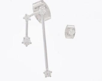 Gemini Ear Crawlers. Big Dipper Ear Climber. Gemini  Constellation Earrings.