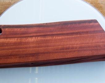 Large Jarrah Chopping Board / Bread Board / Cheese board ( One live edge) [48cm x 16cm x 4cm]