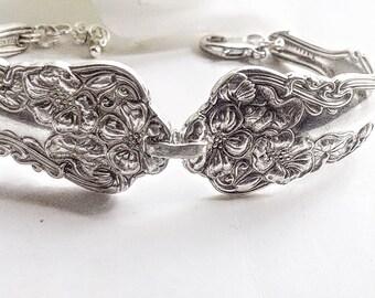 Silver Spoon bracelet,  Spoon Jewelry,  Antique Spoon Bracelet, Silverware Bracelet, Antique  Silver Spoon Jewelery, Silver Bracelet
