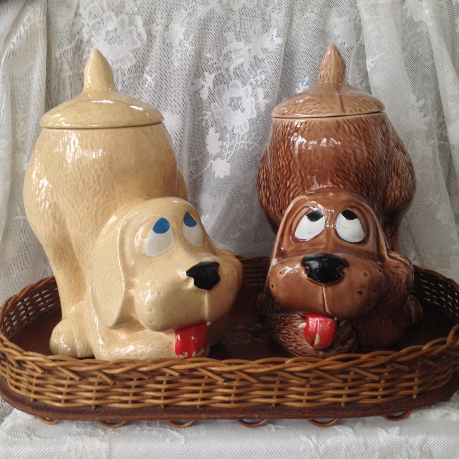 Mccoy Thinking Dog Treat Biscuit Cookie Jar By