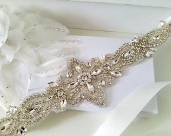 Wedding Belt, Bridal Belt, Sash Belt, Crystal Rhinestone Belt, Style 180