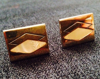 Vintage Faux Mother of Pearl Cuff Links by Swank