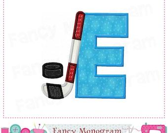 Ice Hockey Monogram E applique,Ice Hockey Letter E applique,E,Ice Hockey,Font E,Sports applique,E,Birthday letter E,Winter applique-01