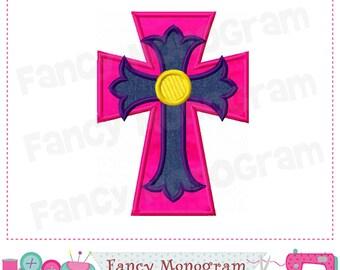 Cross applique,Easter Cross design,Cross design,Easter applique,Easter design,Cross,Easter.002