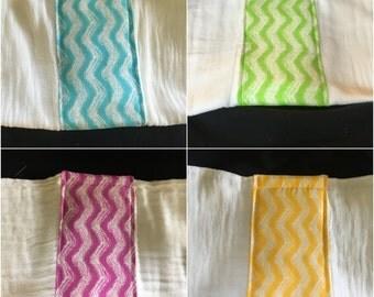 Waves Burp Cloth