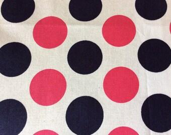 Navy and Pink Polka Dots
