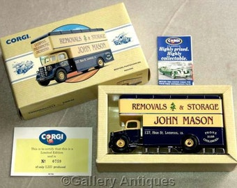 Vintage 1993 Corgi Diecast Limited Edition vehicle Bedford Pantechnicon Masons Removals Original Box & Certificate 0759 / 5222 (a) (3189)