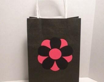 Gift Bag-Tall Gift Bags, Wedding Gift Bags, Bridal Shower Gift Bags, Paper Gift Bags,Paper Bags, Flower Gift Bags, Pink Paper Bags