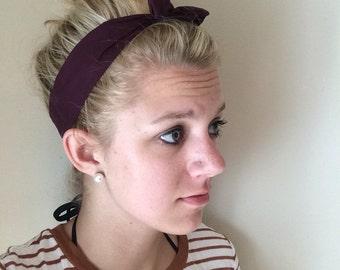Adult Top Knot - Headbands - Tie Headbands - Turban Headbands - Self Tie - Top Knot Headband - Adult Headbands - Adult Headband