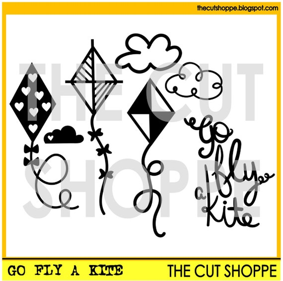The Go Fly a Kit cut file set includes 7 kite themed images for your scrapbooking and papercrafting projects.