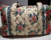 Vera Bradley handbag/ Vintage Vera Bradley Indiana Tea Garden from Spring 1993 collection/ shoulder bag/ Floral quilted purse