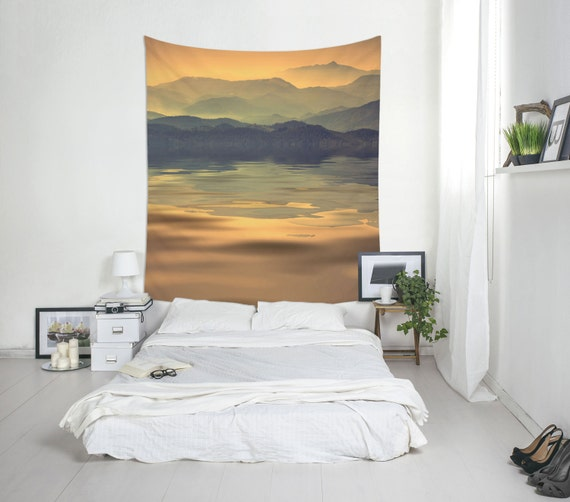 Mountain Tapestry, Mountain Lake, Mountains Tapestry, Landscape Wall Art, Large Wall Print