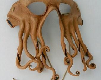 Leather Cthulhu Mask Davy Jones Inspired Mask