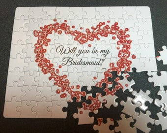 Will you be my bridesmaid? Fully customizable puzzle, bridesmaid puzzle, will you marry me? Will you be my maid of honor? Custom personalize
