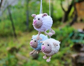 Amigurumi Sheep, Tiny Crocheted Sheep, Cute Small Sheep, Plush Sheep