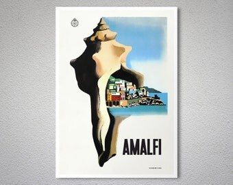 Amalfi  Italy Travel Poster - Poster Print, Sticker or Canvas Print
