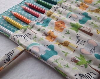 Zoo Animals Pencil Roll