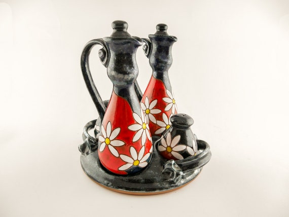 Ceramic cruet set salt and pepper shaker tableware by avanturine - Salt and pepper cruet set ...
